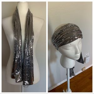 Remington Silver Sequined Scarf